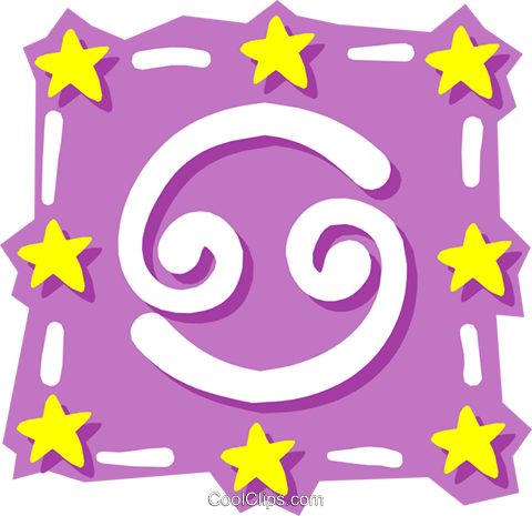 Sign of the zodiac - Cancer Royalty Free Vector Clip Art illustration even0577