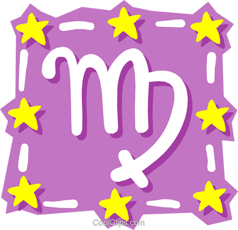 Sign of the zodiac - Virgo Royalty Free Vector Clip Art illustration even0587