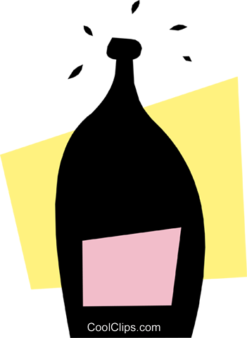 wine bottle Royalty Free Vector Clip Art illustration food0616