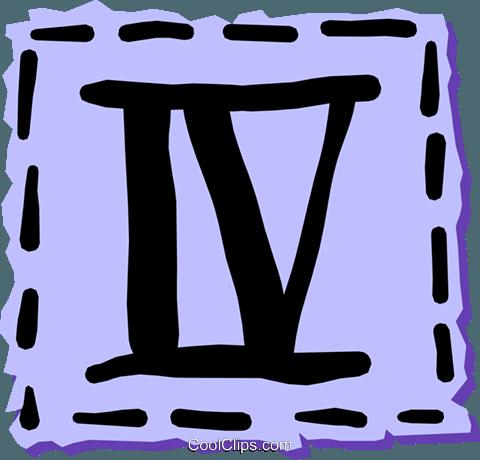 Algarismos romanos livre de direitos Vetores Clip Art ilustração text0962