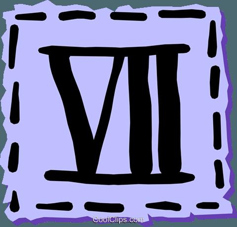 Algarismos romanos livre de direitos Vetores Clip Art ilustração text0968