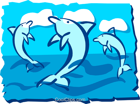 Dolphin Royalty Free Vector Clip Art illustration anim1266