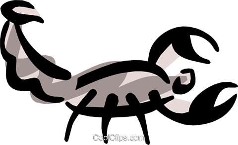 Scorpions Royalty Free Vector Clip Art illustration anim1271