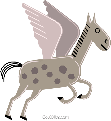 Cartoon horses Royalty Free Vector Clip Art illustration anim1282