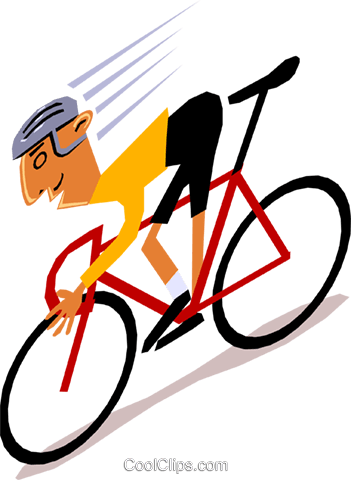 Cyclists Royalty Free Vector Clip Art illustration cart1392