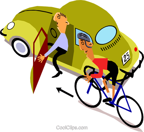 Cyclists Royalty Free Vector Clip Art illustration cart1394