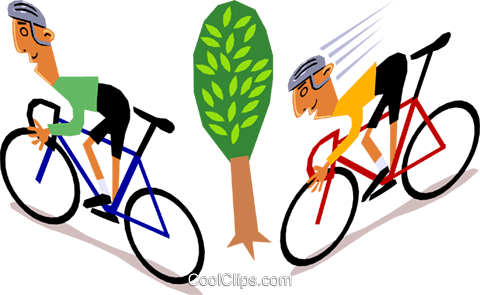 Cyclists Royalty Free Vector Clip Art illustration cart1395