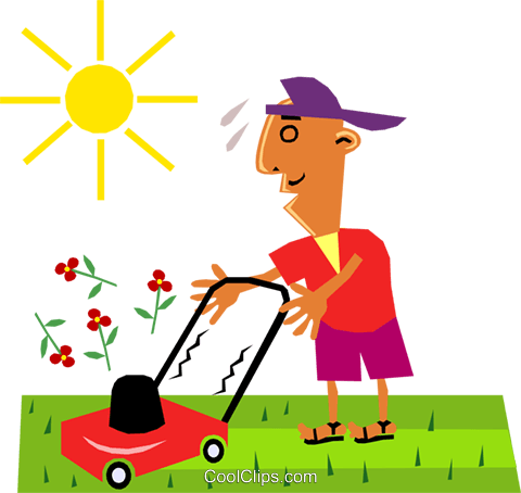 Lawn care Royalty Free Vector Clip Art illustration cart1400