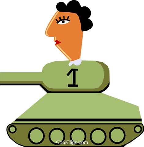 Tank Royalty Free Vector Clip Art illustration cart1408