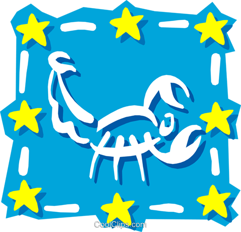 Sign of the zodiac - Scorpio Royalty Free Vector Clip Art illustration even0597