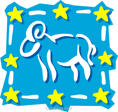 Sign of the zodiac - Aries Royalty Free Vector Clip Art illustration even0599