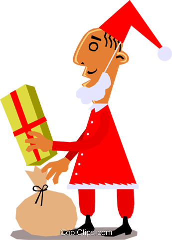Santa Claus Royalty Free Vector Clip Art illustration even0601