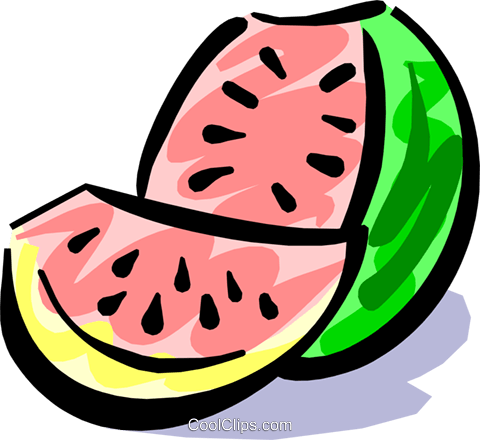 Watermelon Royalty Free Vector Clip Art illustration food0617