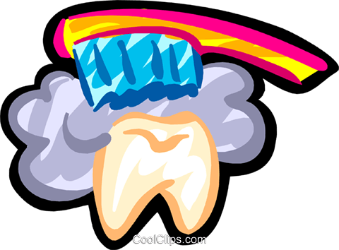 Toothbrush Royalty Free Vector Clip Art illustration medi0275