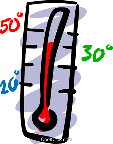 Thermometers Royalty Free Vector Clip Art illustration natu0569