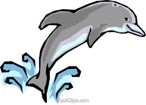 Dolphins Royalty Free Vector Clip Art illustration anim1285