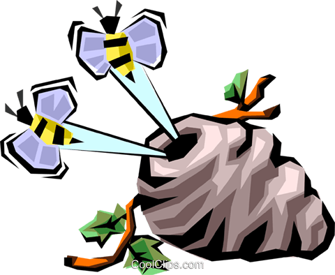 Worker bee Royalty Free Vector Clip Art illustration anim1287