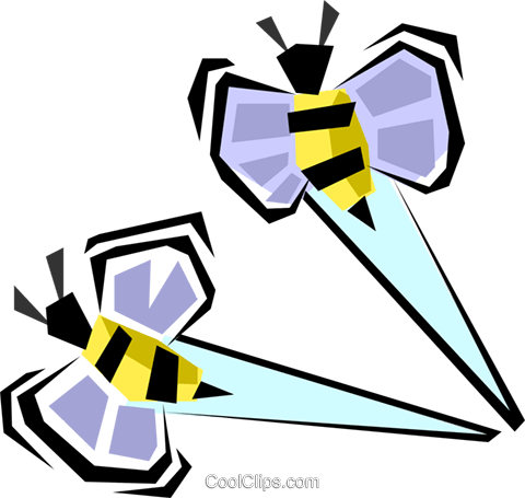 bumble bees Royalty Free Vector Clip Art illustration anim1288