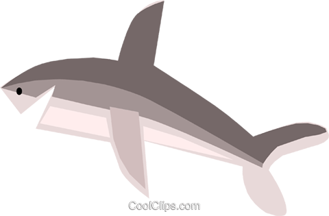 Shark Royalty Free Vector Clip Art illustration anim1292