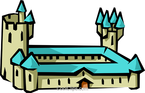 Castle Royalty Free Vector Clip Art illustration arch0325
