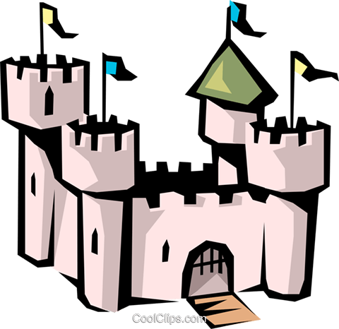 Castle Royalty Free Vector Clip Art illustration arch0326