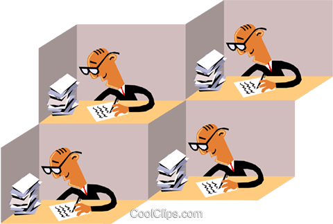 Office worker Royalty Free Vector Clip Art illustration cart1428