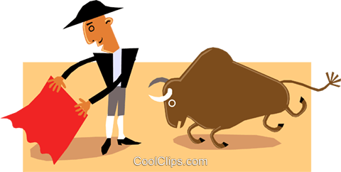 The Bull fighter Royalty Free Vector Clip Art illustration cart1430