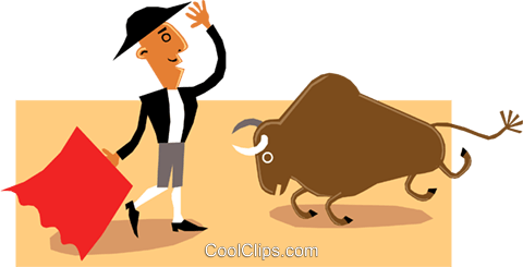 The Bull fighter Royalty Free Vector Clip Art illustration cart1431