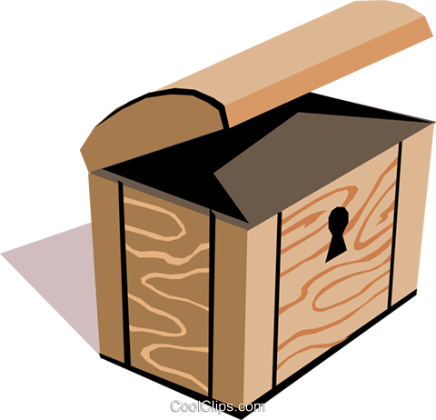 Treasure Chest Vecteurs de stock et clip-Art vectoriel cart1433