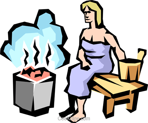 Sauna lady Royalty Free Vector Clip Art illustration peop1623