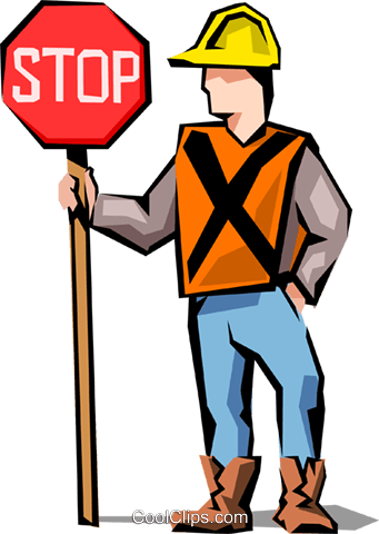 Road crew Royalty Free Vector Clip Art illustration peop1644