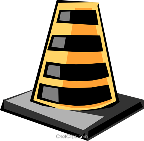 Road markers Royalty Free Vector Clip Art illustration tran0503
