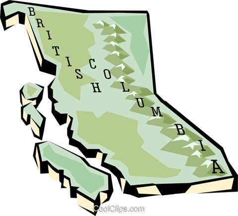 British Columbia map Royalty Free Vector Clip Art illustration worl0638