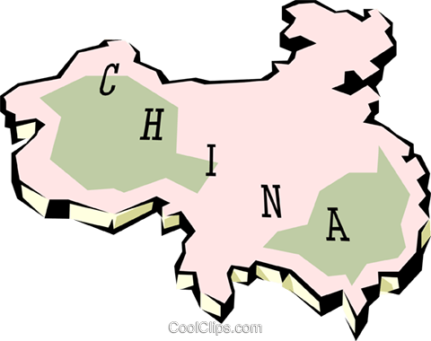 China map Royalty Free Vector Clip Art illustration worl0640
