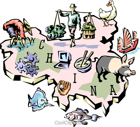 China map Royalty Free Vector Clip Art illustration worl0641