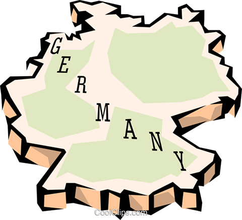 Germany map Royalty Free Vector Clip Art illustration worl0642