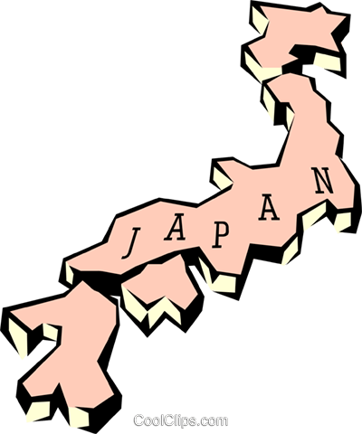 Japan map Royalty Free Vector Clip Art illustration worl0644
