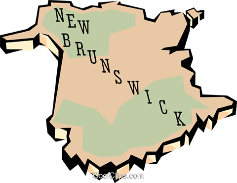New Brunswick map Royalty Free Vector Clip Art illustration worl0648