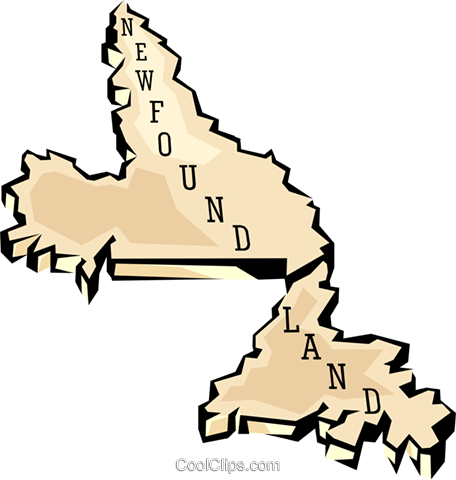 Newfoundland map Royalty Free Vector Clip Art illustration worl0649