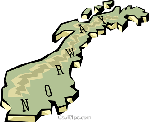 Norway map Royalty Free Vector Clip Art illustration worl0650