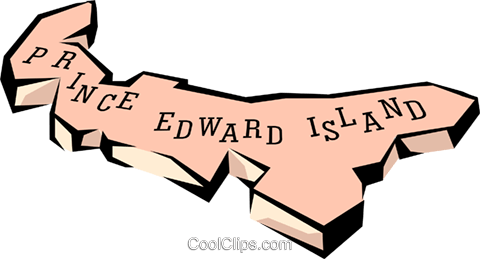 Prince Edward Island map Royalty Free Vector Clip Art illustration worl0655