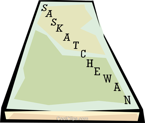 Saskatchewan map Royalty Free Vector Clip Art illustration worl0657