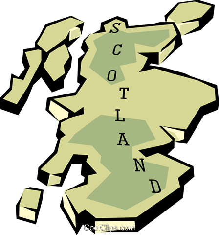 Scotland map Royalty Free Vector Clip Art illustration worl0658