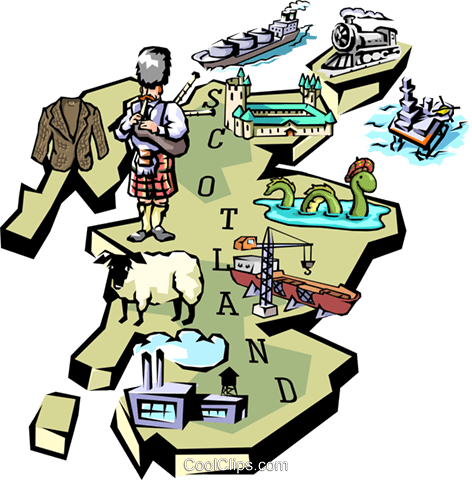 Scotland map Royalty Free Vector Clip Art illustration worl0659