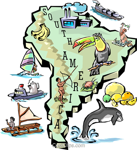 South America map Royalty Free Vector Clip Art illustration worl0660