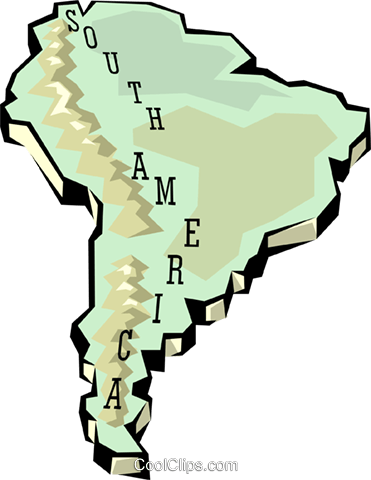 South America map Royalty Free Vector Clip Art illustration worl0661
