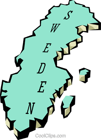 Sweden map Royalty Free Vector Clip Art illustration worl0662