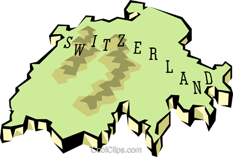 Switzerland map Royalty Free Vector Clip Art illustration worl0664
