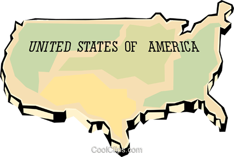 United States map Royalty Free Vector Clip Art illustration worl0666