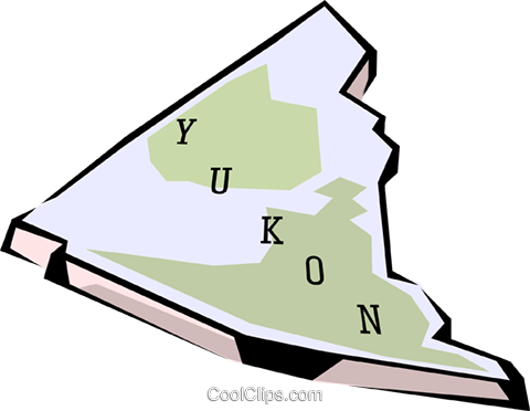 Yukon map Royalty Free Vector Clip Art illustration worl0668